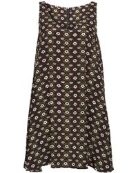 Topshop Floral Print Swing Dress  - Lyst