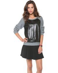 Townsen - Evergreen Leather Sweater - Lyst