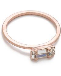 Bing Bang Tiny Baguette Ring - Metallic