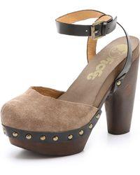 Flogg - Darcie Chunky Suede Sandals - Lyst