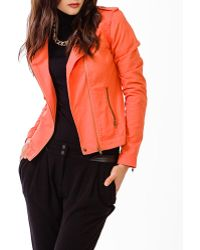 Forever 21 Life in Progress Zippered Twill Jacket - Lyst