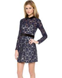 Jill Jill Stuart Long Sleeve Lace Dress - Lyst