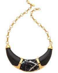 Kara Ross - Resin Collar Necklace with Inlay - Lyst