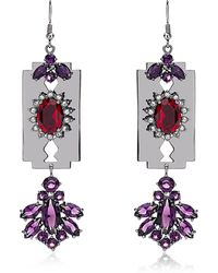 Mawi - Razor Crystal Earrings - Lyst
