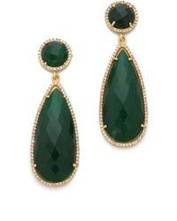One By - Crown Stone Drop Earrings - Lyst