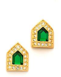 Rachel Zoe - Deco Fringe Button Earrings - Lyst