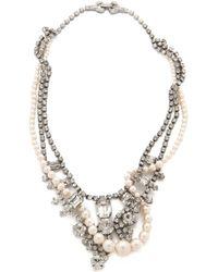 Tom Binns Grande Dame Crystal Tangled Necklace - Metallic