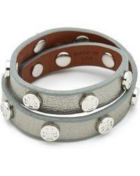 Tory Burch Double Wrap Logo Bracelet - Lyst
