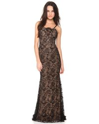 Vera Wang Collection - Sleeveless Lace Gown - Lyst