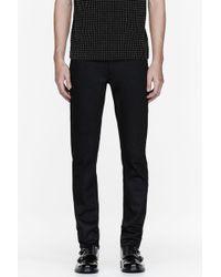 Burberry Prorsum - Black Twill Slim Jeans - Lyst