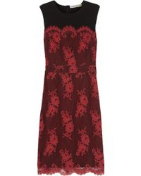 Clements Ribeiro Frida Lace-Covered Crepe Dress
