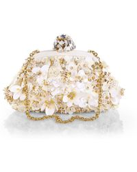 Dolce & Gabbana Multi Floral Sequined Convertible Clutch - Lyst