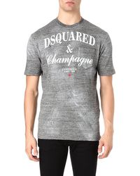 DSquared² Champagne Print Tshirt - Lyst