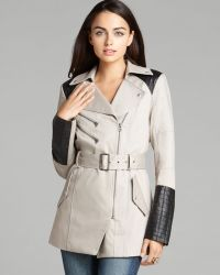 Guess Coat Quilted Trench - Gray