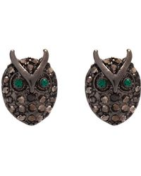 Hobbs - Nw3 Sparkle Owl Earrings - Lyst
