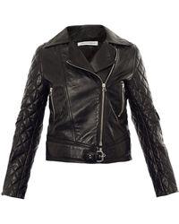 JW Anderson Quilted Leather Biker Jacket - Black