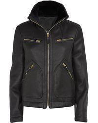 Marc By Marc Jacobs Hudson Shearling Jacket - Black