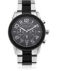 Michael Kors Mercer 45Mm Two-Tone Chronograph Watch - Lyst