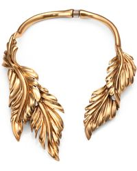 Oscar de la Renta Fluted Leaf Necklace - Lyst