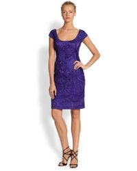 Sue Wong - Soutache Embroidered Dress - Lyst