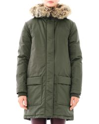 Theory Furtrimmed Parka - Green
