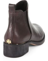 Tory Burch Griffith Leather Ankle Boots - Brown