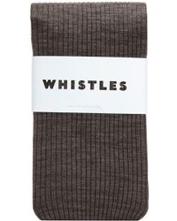 Whistles - Marl Wool Rib Tights - Lyst