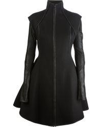 Gareth Pugh Leather Trim Dress - Black