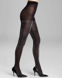 Kate Spade Shimmer Tights - Black