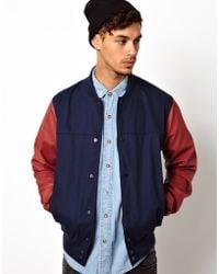 KR3W | Baseball Jacket Faux Leather Sleeves | Lyst