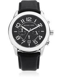 Michael Kors Mercer 45Mm Leather Chronograph Watch - Lyst