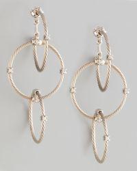 Paul Morelli | 18k White Gold Diamond Link Earrings | Lyst