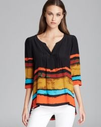 Plenty by Tracy Reese - Quotation Blouse Painted Stripe Peasant Kurta - Lyst