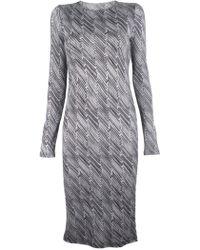 10 Crosby Derek Lam Long Sleeve Zig Zag Dress - Lyst