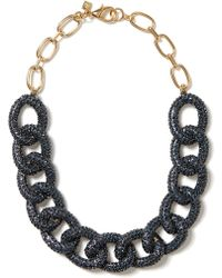 Banana Republic Sky Pave Link Necklace Cobalt Blue black - Lyst