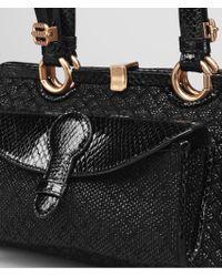 Bottega Veneta Raffia Wool Ayers Palermo Bag - Black