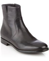 Ferragamo Plain Toe Boot - Lyst