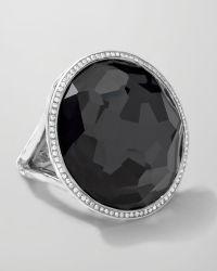 Ippolita - Stella Large Lollipop Ring In Hematite & Diamonds - Lyst