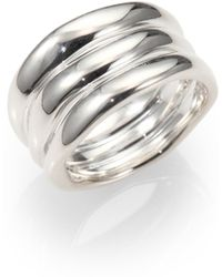 Ippolita Sterling Silver Ribbed Ring silver - Lyst