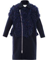 Julien David - Fluffy Boiled Wool Coat - Lyst
