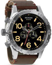 Nixon The 51-30 Chrono Leather Watch, 51Mm - Lyst