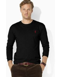 Ralph Lauren Polo Classicfit Longsleeved Cotton Jersey Pocket Crewneck - Lyst