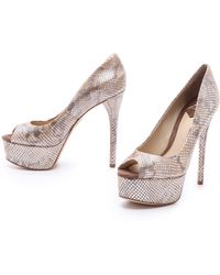 B Brian Atwood - Bambola Peep Toe Court Shoes - Lyst