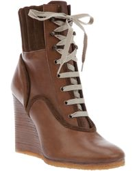 Chloé Wedge Boot - Brown