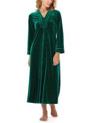 Oscar de la Renta - Velvet Caftan Nightgown - Lyst
