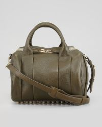Alexander Wang Rockie Small Crossbody Satchel Bag Oliveyellow Golden - Lyst