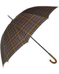 Barbour Tartan Golf Umbrella - Brown