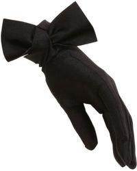 Black.co.uk Black Bow Cocktail Gloves black - Lyst