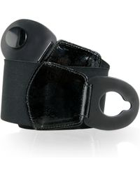 Black.co.uk - Black Stretch Corset Belt With Black Plastic Buckle - Lyst