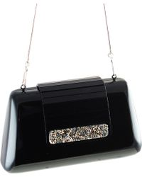Black.co.uk Luna Black Swarovski Crystal Embellished Clutch Bag